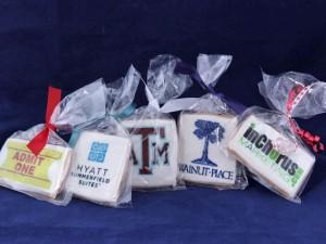 Logo cookies from Texas Treats