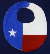 Texas flag baby bib