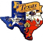 Texas-shaped magnet