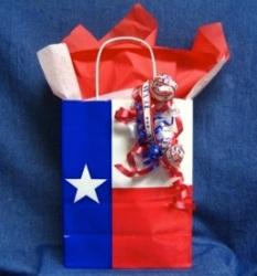 Texas Flag Gift Bag Packaging Set