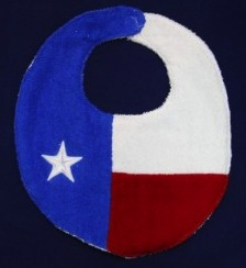 Texas Flag Bib from Texas Treats