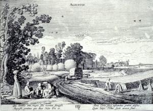 Pilgrim Harvest Scene