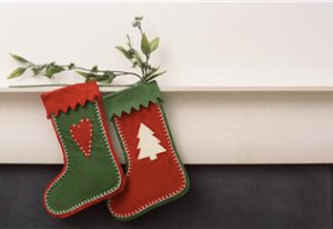 Christmas Stocking Cropped - Clipart