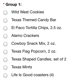 TX Treats - Basket A - Group 1