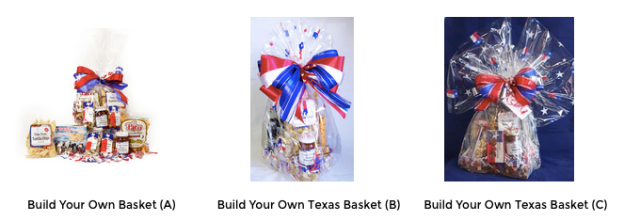 TX Treats - Build Your Own Basket Sizes