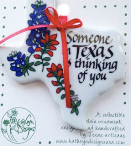 TX Treats - Someone is Thinking Ornament
