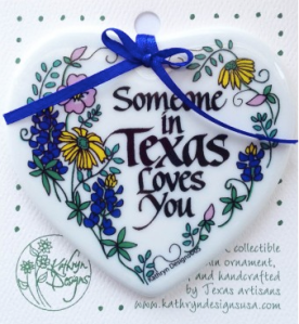 TX Treats - Someone Loves You Ornament