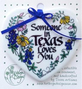 TX Treats - Someone Loves You Ornament